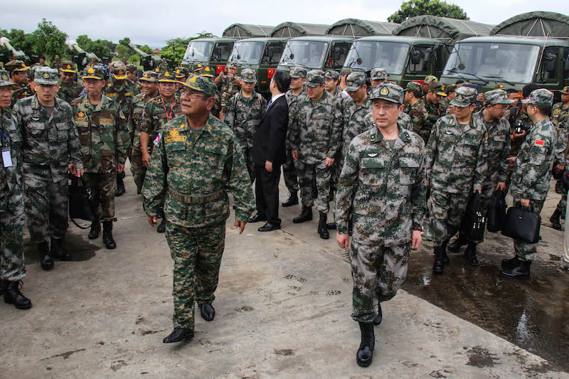 Image result for cambodia china military exercise